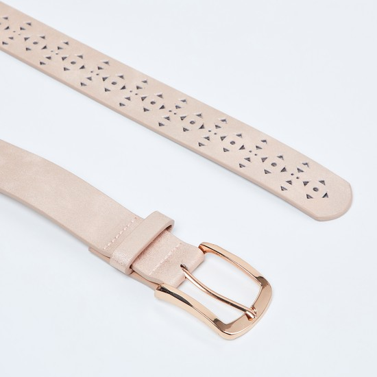MAX Laser-Cut Detailed Casual Belt