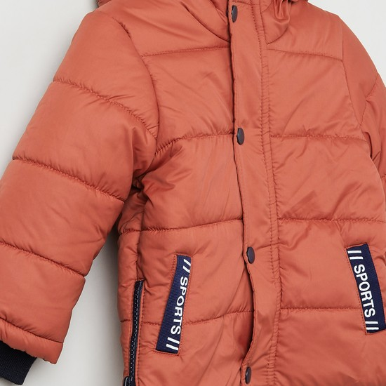 MAX Quilted Hooded Puffer Jacket