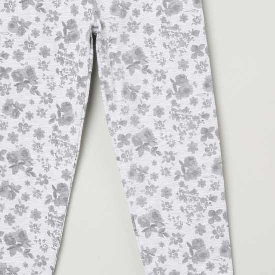 MAX Printed Bow Trimmed Leggings