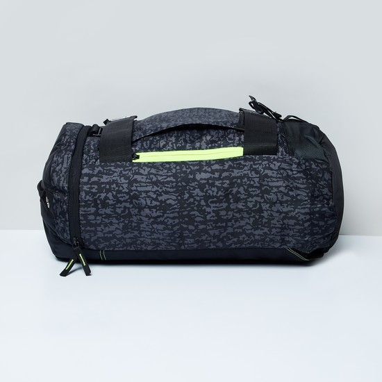MAX Camouflage Print Duffle Bag with Shoulder Straps