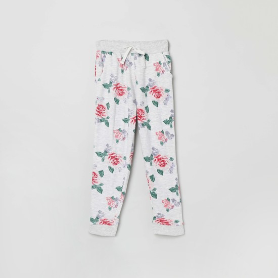 MAX Floral Print Knitted Joggers