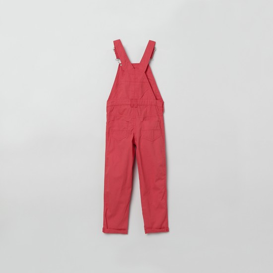 MAX Full Length Dungarees with Embroidery