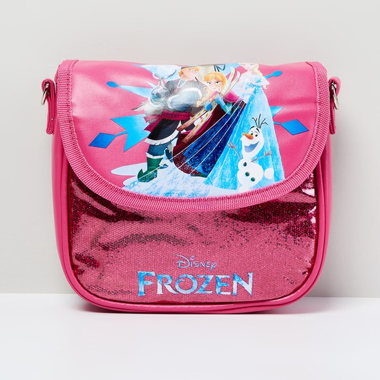 MAX Frozen Print Textured Sling Bag