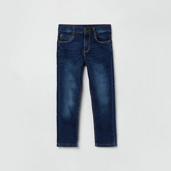 MAX Dark Washed Jeans with Tonal Whiskers