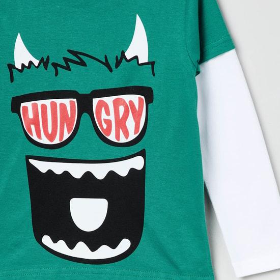 MAX Printed Full Sleeves Twofer T-shirt