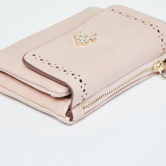 MAX Laser Cut Wallet with Floral Applique