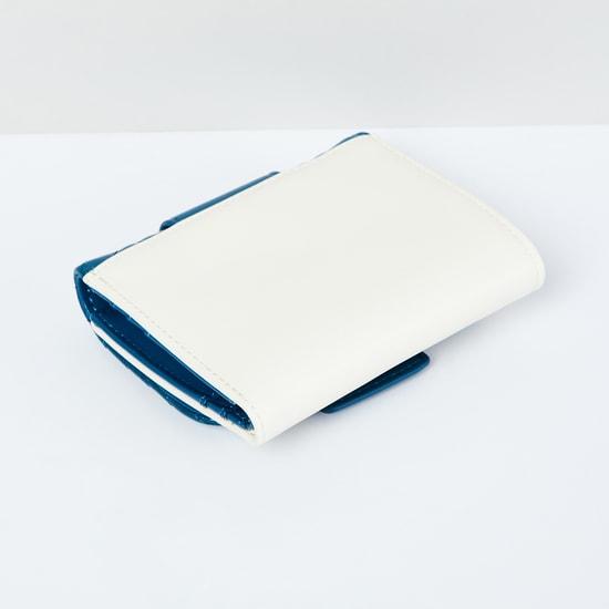 MAX Herringbone Texture Colourblock Tri-Fold Wallet