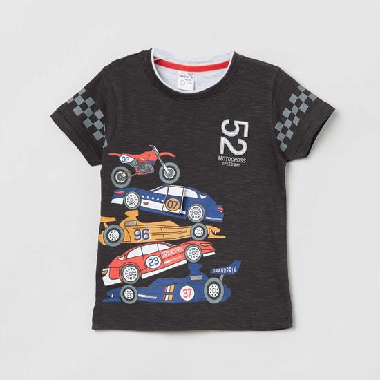MAX Graphic Printed Round Neck T-shirt