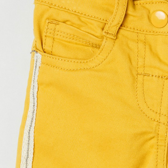 MAX Solid Trousers with Contrast Taping