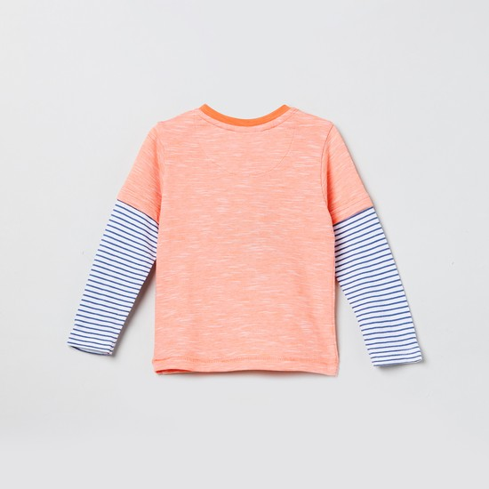 MAX Printed Full Sleeves Twofer T-shirt