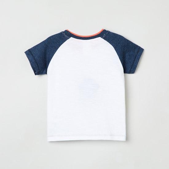 MAX Graphic Printed T-shirt with Raglan Sleeves