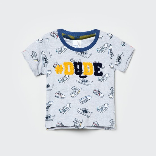 MAX Appliqued Crew Neck T-shirt