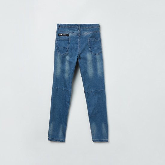 MAX Stonewashed Panelled Jeans