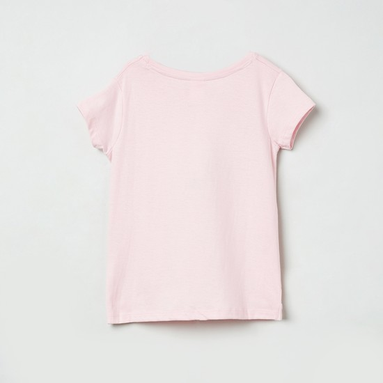 MAX Floral Print Knotted T-shrit