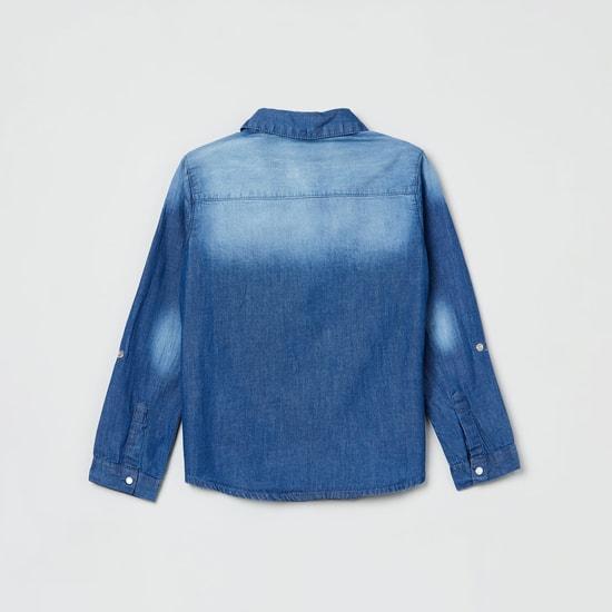 MAX Stonewashed Full Sleeves Denim Shirt