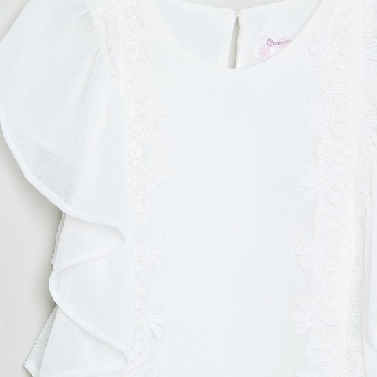 MAX Floral Lace Sheer Top