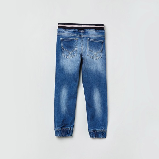 MAX Appliqued Slim Fit Jogger Jeans