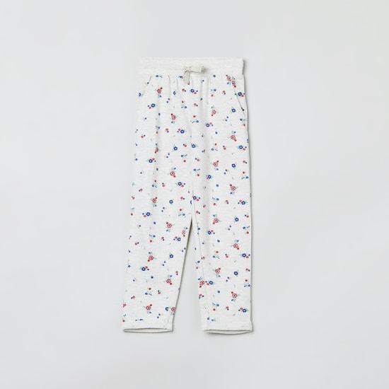 MAX Floral Print Elasticated Trackpants