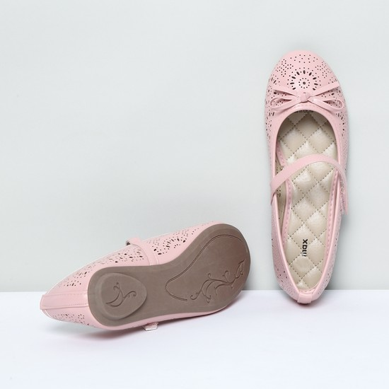 MAX Laser-Cut Mary Janes with Mock Tie-Up