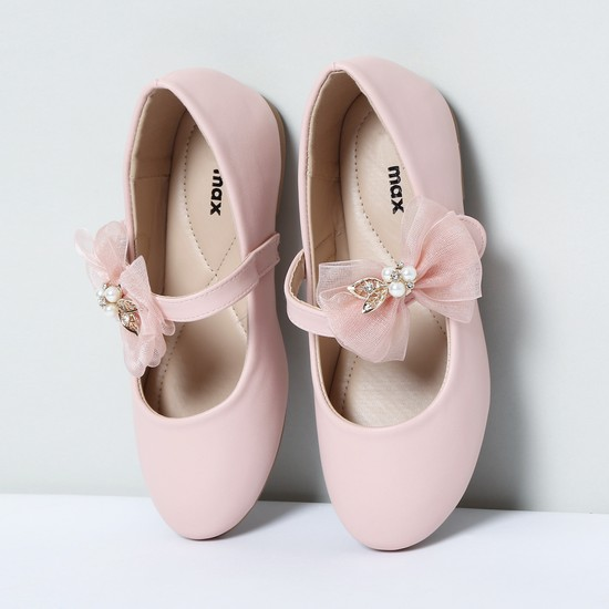 MAX Mary Janes with Beaded Bow