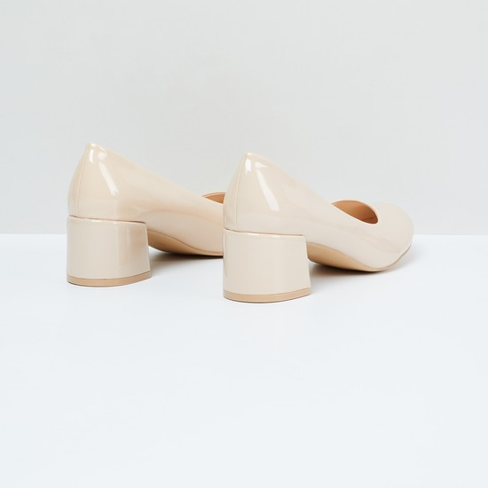 MAX Solid Block-Heeled Shoes