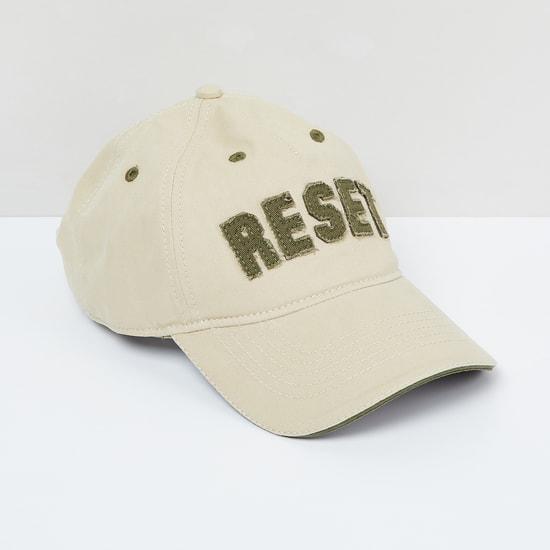 MAX Typographic Applique Baseball Cap