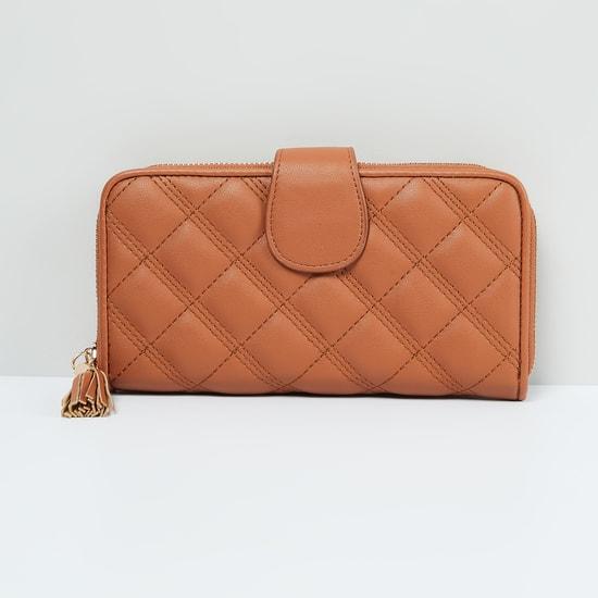 MAX Textured Zip Closure Wallet
