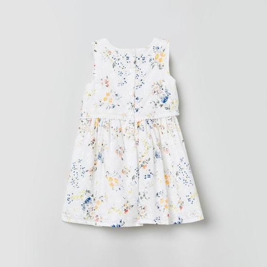 MAX Floral Print Layered A-line Dress