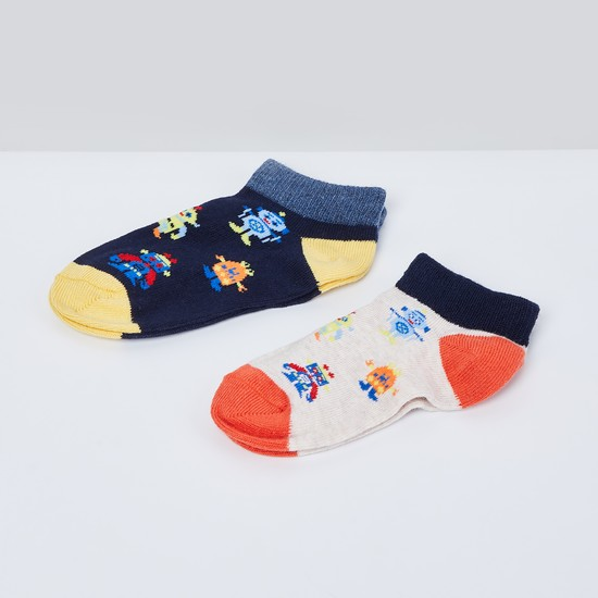 MAX Woven Design Socks- Pack of 2 - 2-4Y