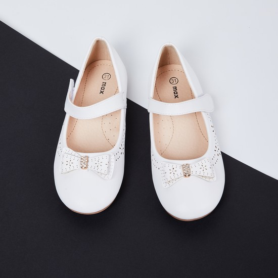 MAX Laser-Cut Mary Janes with Embellisshed Bow