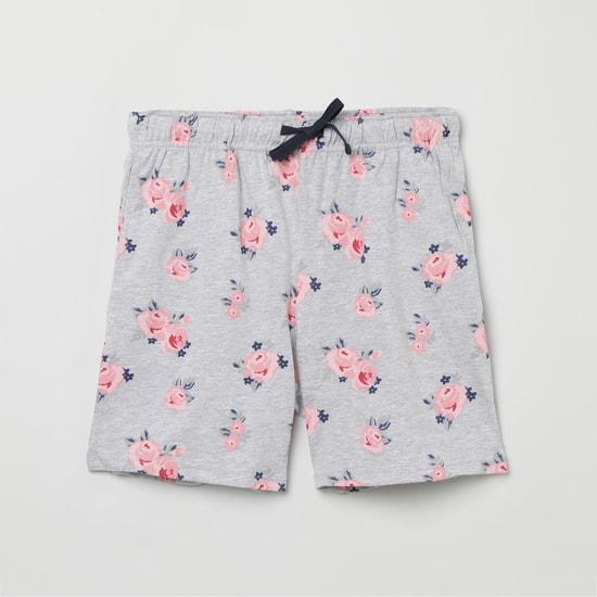 MAX Printed Ruffled Hem Top and Shorts