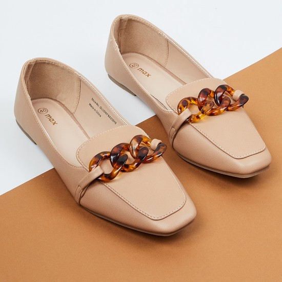 MAX Tortoise-Shell Embellished Loafers