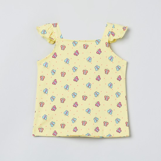 MAX Butterfly Print Sleeveless Top