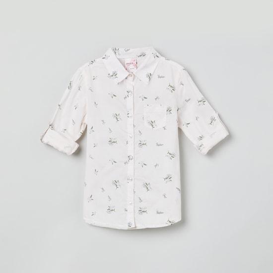 MAX Floral Print Full Sleeves Casual Shirt