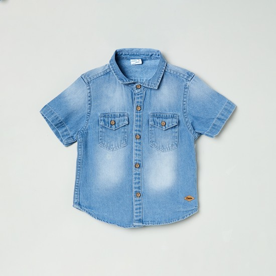 MAX Boys Washed Half-Sleeves Shirt