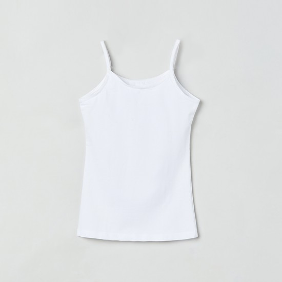 MAX Solid Knitted Camisole - Pack of 2