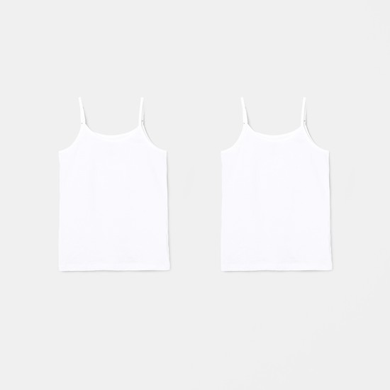 MAX Solid Knitted Camisole - Set of 2