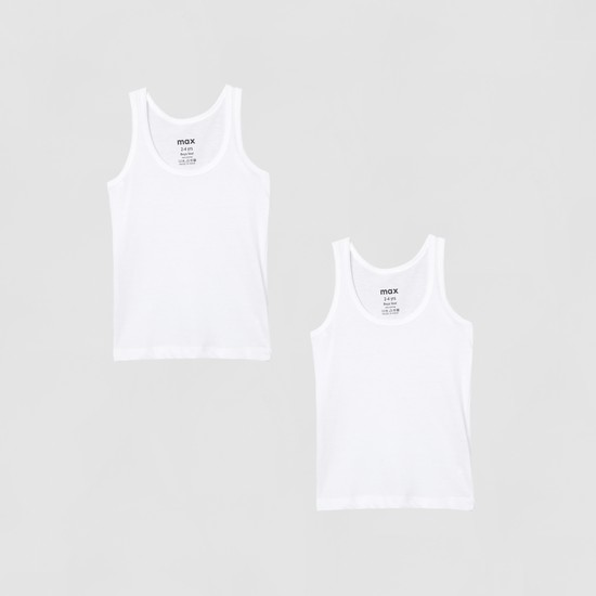 MAX Solid Knitted Vest - Pack of 2