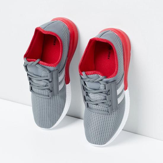 MAX Mesh Detail Lace-Up Shoes