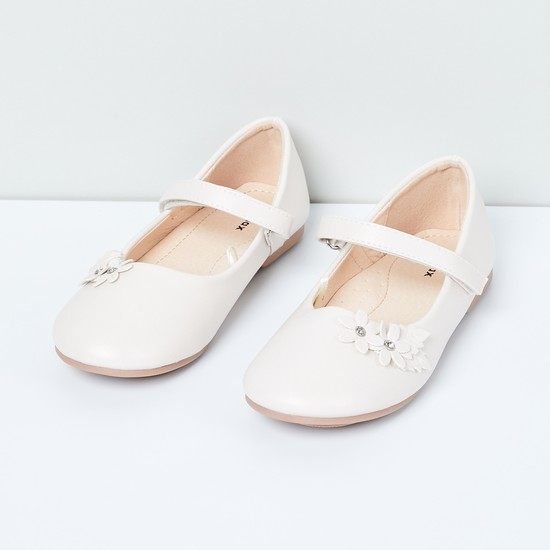 MAX Mary Janes with Floral Applique