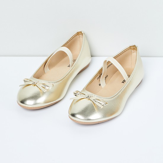 MAX Shimmery Mary Janes with Bow