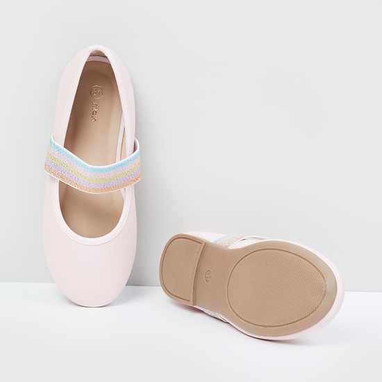 MAX Solid Elasticated Loop Ballerinas