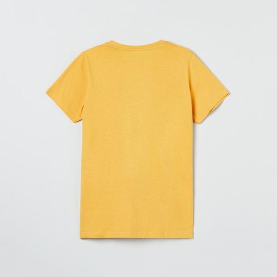 MAX Printed Crew Neck T-shirt with Pyjamas
