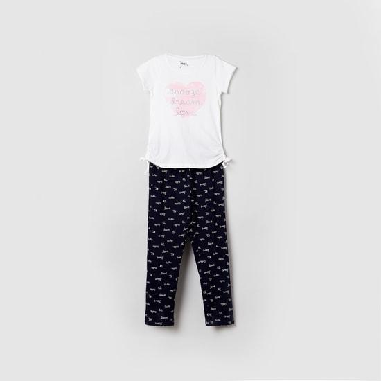 MAX Printed Lounge T-shirt and Pyjama