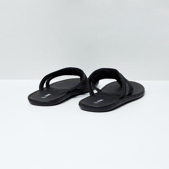MAX Embellished Toe-Strap Flats