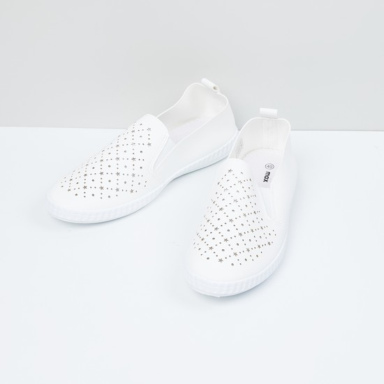 MAX Laser-Cut Detail Slip-On Casual Shoes