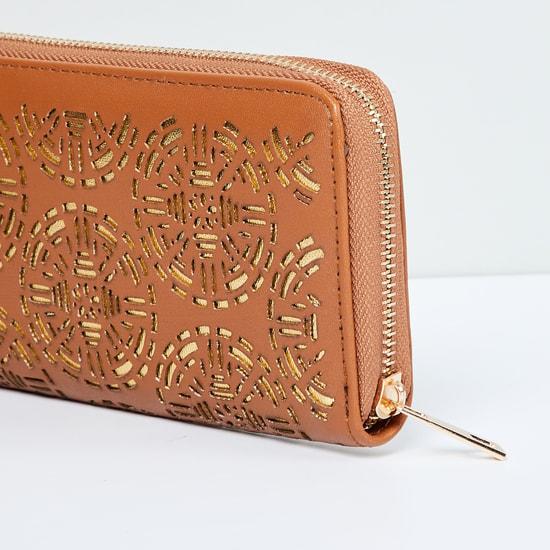 MAX Zip-Around Wallet with Embellishments