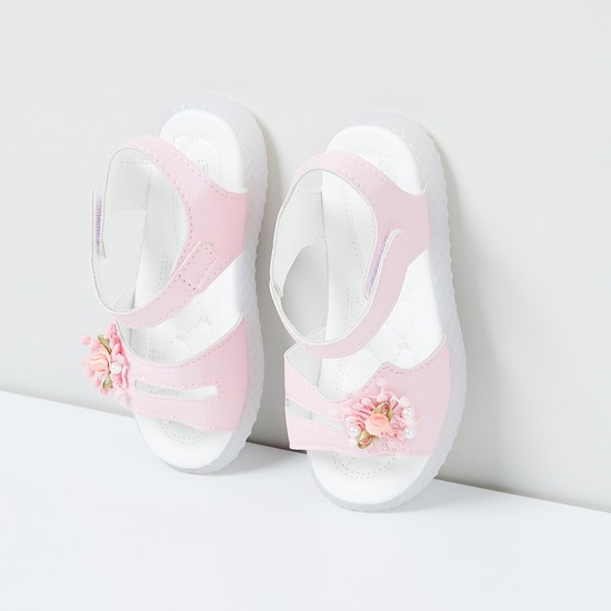 MAX Floaters with Floral Applique