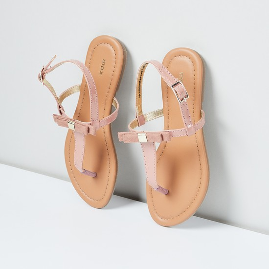 MAX T-strap Slingback Flat Sandals