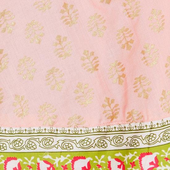 MAX Foil Print Maxi Dress